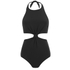 Mara Hoffman Women's Knot Front Cut Out Swimsuit - Black: Image 1
