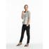 Maison Scotch Women's 3/4 Sleeve Logo T-Shirt with Logo Burnout Artwork - Grey: Image 2