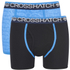 Crosshatch Men's Lightspeed 2-Pack Boxers - Neon Blue/Black: Image 1