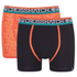 Crosshatch Men's Lightspeed 2-Pack Boxers - Madarin/Black: Image 1