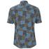 YMC Men's Spot Cloud Short Sleeve Shirt - Blue: Image 2