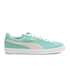Puma Women's Suede Classic Low Top Trainers - Green/White: Image 1