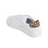 Loeffler Randall Women's Zora Perforated Trainers - White/Cheetah: Image 5