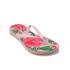 Havaianas Women's Slim Floral Flip Flops - Crystal Rose: Image 3
