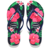 Havaianas Women's Slim Floral Flip Flops - Navy Blue: Image 1