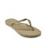Havaianas Women's Slim Swarovski Crystal Glamour Flip Flops - Sandy Grey/Light Gold: Image 3