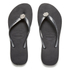 Havaianas Women's Slim Crystal Poem Flip Flops - Black/Graphite: Image 1
