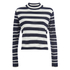 ONLY Women's Miabella Long Sleeve Highneck Knitted Pullover - Night Sky: Image 1