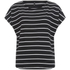 ONLY Women's Love Stripe Loose Top - Black: Image 1