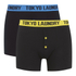 Tokyo Laundry Men's Charmouth 2 Pack Button Boxers - Buttercup/Swedish Blue: Image 1