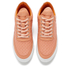 Filling Pieces Women's Stripe Quilted Low Top Leather Trainers - Orange: Image 2