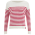 Superdry Women's Breton Icarus Jumper - White/Red: Image 1