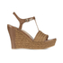 UGG Women's Fitchie T Bar Wedged Sandals - Rust: Image 1
