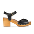 UGG Women's Janie Leather Heeled Sandals - Black: Image 1