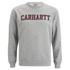 Carhartt Men's College Sweatshirt - Grey/Burgundy: Image 1