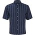 Levi's Vintage Men's Homerun Short Sleeve Flapper Shirt - Indigo Dobby Stripe: Image 1