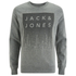 Jack & Jones Men's Core Noise Sweatshirt - Light Grey Melange: Image 1