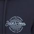 Jack & Jones Men's Originals Smooth Hoody - Navy Blazer: Image 3