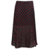 McQ Alexander McQueen Women's Pleated Skirt - Red/Black: Image 1