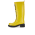 Ilse Jacobsen Women's Lace Up Tall Rubber Boots - Cyber Yellow: Image 4