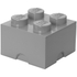 LEGO Storage Brick 4 - Medium Stone Grey: Image 1