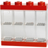 LEGO Mini Figure Display (8 Minifigures) - Bright Red: Image 1