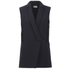 Karl Lagerfeld Women's Crepe Lace Detail Waistcoat - Navy: Image 1