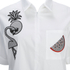 Karl Lagerfeld Women's Tropical Patches Poplin Tunic Dress - White: Image 3