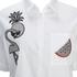 Karl Lagerfeld Women's Tropical Patches Poplin Tunic Dress - White: Image 3