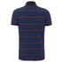 Tommy Hilfiger Men's Barney Striped Polo Shirt - Dark Indigo: Image 2