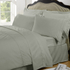 Highams 100% Egyptian Cotton Plain Dyed Bedding Set - Silver Grey [China Sizing Only]: Image 1