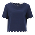 Vanessa Bruno Athe Women's Ernest Scalloped Edge Top - Indigo: Image 1