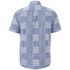 Edwin Men's Short Sleeve Patchwork Shirt - Blue: Image 2