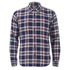 Edwin Men's Labour Herringbone Seersucker Shirt - Blue: Image 1