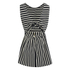 Maison Kitsuné Women's Marin Bali Dress - Black/White: Image 3