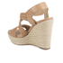 MICHAEL MICHAEL KORS Women's Giovanna Woven Wedge Sandals - Brown: Image 4