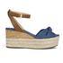 MICHAEL MICHAEL KORS Women's Maxwell Mid Wedge Sandals - Denim: Image 1