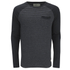 Brave Soul Men's Monacle Striped Raglan Long Sleeve Top - Black: Image 1