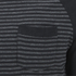 Brave Soul Men's Monacle Striped Raglan Long Sleeve Top - Black: Image 4