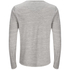 Brave Soul Men's Jeffrey Button Long Sleeved Top - Light Grey: Image 2