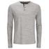 Brave Soul Men's Jeffrey Button Long Sleeved Top - Light Grey: Image 1
