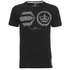 Crosshatch Herren Baseline T-Shirt - Black: Image 1