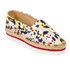 Jil Sander Navy Women's Graphic Flowers Espadrilles - Red/White: Image 2