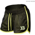 Better Bodies Women's Race Mesh Shorts - Black/Lime: Image 1