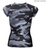 Better Bodies Women's Zipped T-Shirt - Grey Camo: Image 2