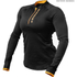 Better Bodies Women's Zipped Long Sleeve Top - Black/Orange: Image 1
