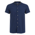 Scotch & Soda Men's Rib Collar Short Sleeve Shirt - Night: Image 1