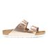 Birkenstock Women's Arizona Leather Slim Fit Double Strap Sandals - Metallic Copper: Image 1