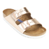 Birkenstock Women's Arizona Leather Slim Fit Double Strap Sandals - Metallic Copper: Image 2