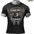 GASP Men's Rough Print T-Shirt - Wash Black: Image 1